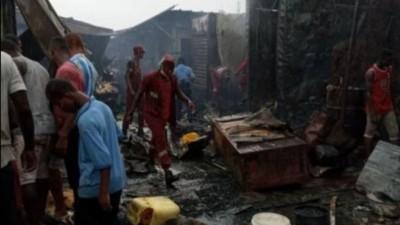 Côte d'Ivoire : Un incendie déclaré au grand marché d'Abobo, des box consumés par le feu