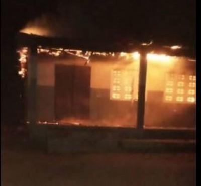 Côte d'Ivoire : Djékanou, une école primaire part en fumée