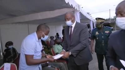 Côte d'Ivoire : Le soutien du  chef de l'Etat  remis aux familles des soldats disparu...