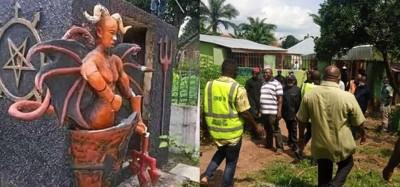 Nigeria :  L'église de Satan saccagée à Abia, son fondateur arrêté