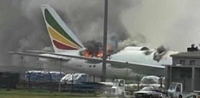 Ethiopie-Chine : Un avion d'Ethiopian Airlines prend feu à l' aéroport de Shanghai