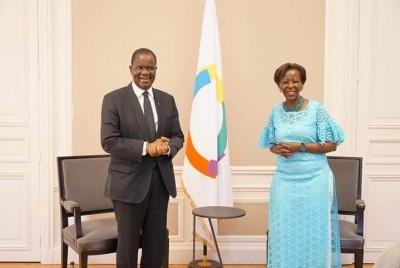 Côte d'Ivoire : A Paris, Amadou Soumahoro s'est entretenu avec la Sécrétaire de la Francophonie