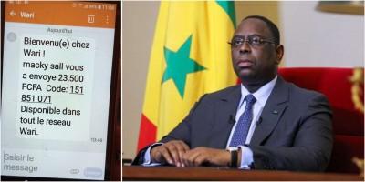 Sénégal : Bourses de sécurité familiale, Sall confond les caisses de l'Etat à sa poche et s'arroge la paternité du paiement