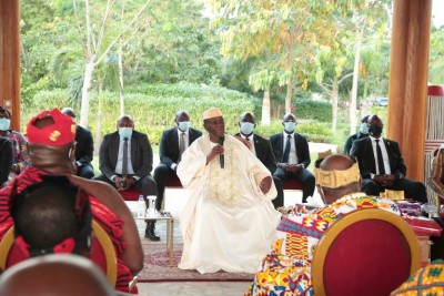 Côte d'Ivoire : Le Sud-Comoé demande à Ouattara d'être son candidat, il refuse de donner une réponse à cause du deuil qu'il traverse