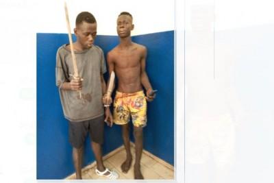 Côte d'Ivoire : A Abobo, fin de cavale pour 2 présumés voleurs de nuit en réunion et de viol collectif