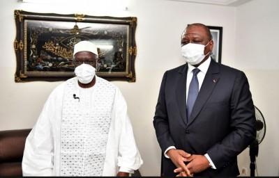 Côte d'Ivoire : Hamed Bakayoko prend un engagement devant le  Cheick Al Aima: « Le gouvernement ne ménagera aucun effort pour la paix »