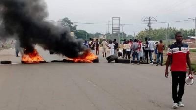 Côte d'Ivoire : Bangolo, des individus manifestent contre la candidature de Ouattara...
