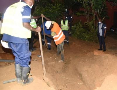 Côte d'Ivoire : Travaux sur le réseau d'eau potable de Cocody, communiqué de la Sodeci