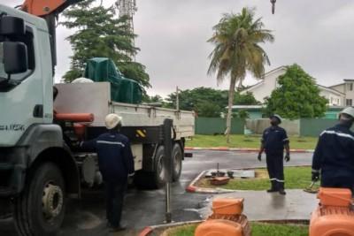 Côte d'Ivoire : Travaux sur le réseau d'eau potable du Boulevard de Marseille, commun...