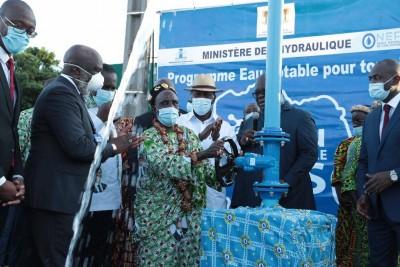 Côte d'Ivoire : Mise en service du Réseau de renforcement de la capacité en eau potable de la Ville de Bongouanou