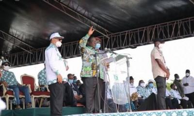 Côte d'Ivoire : A son investiture, Bédié fustige la gouvernance du RHDP et rassure qu'il mettra en place un gouvernement de large ouverture, une fois élu