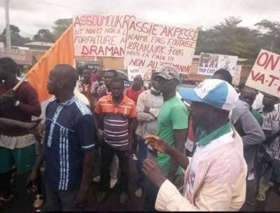 Côte d'Ivoire : 48 heures après la visite d'Etat   dans le  Moronou, des populations dans la rue, Affi répond à Ouattara