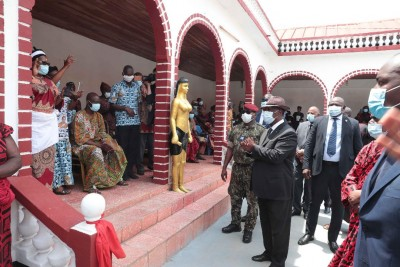 Côte d'Ivoire : Alassane Ouattara aux  obsèques du Roi du Djuablin, Sa Majesté Nanan AGNINI BILE