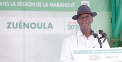 Côte d'Ivoire :   Marahoué, Ouattara annonce un plan Marshall à Zuenoula, promet offrir des emplois à la jeunesse et lui demande de ne pas écouter les « chants de sirènes »