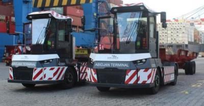 Côte d'Ivoire : Abidjan Terminal, réception des tracteurs 100% électriques pour la certification environnementale « Green Terminal »