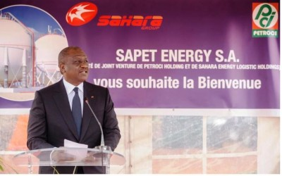 Côte d'Ivoire : Hamed Bakayoko pose la première pierre de trois nouvelles installations de stockage du Gaz butane