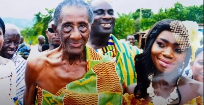 Ghana :  Une jeune femme se prononce sur son mariage avec un homme de 97 ans