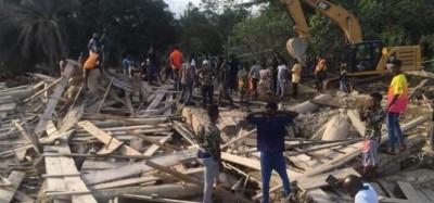 Ghana :  Effondrement d'une église à Akyem Batabi, 16 morts, des blessés et des reche...