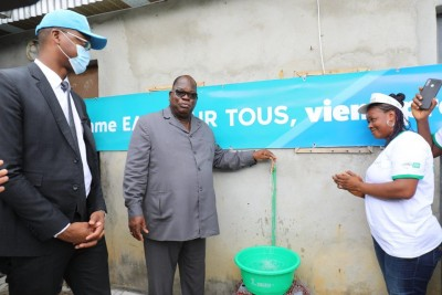 Côte d'Ivoire : Programme d'accès à l'eau pour tous, visite de terrain du ministre Tchagba et du DG de la SODECI pour vérifier la bonne marche des travaux