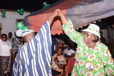 Côte d'Ivoire : Guiglo, en campagne pour Ouattara à Domobly et Nizaon, Yaoundé et Goya, «Faisons mentir ceux qui veulent boycotter les élections»