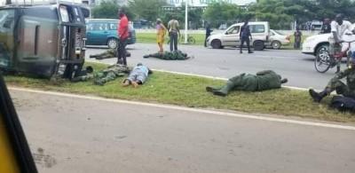 Côte d'Ivoire : À Port-Bouët, un cargo transportant des militaires fait une sortie de route, des blessés