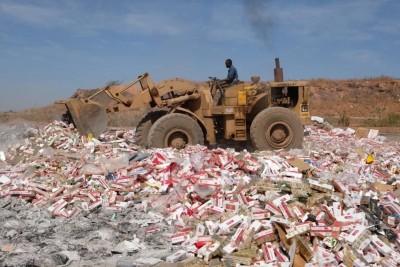 Burkina Faso : 60.000 cartouches de cigarettes de contrebande saisies et détruites