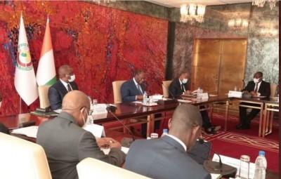 Côte d'Ivoire : Le bilan de la situation sécuritaire   suite à l'élection présidentielle au centre d'une réunion du CNS présidée par le Chef de l'Etat