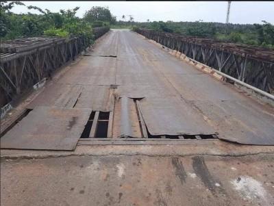 Côte d'Ivoire : Infrastructure routière, voici dans quel état se trouve aujourd'hui le pont en fer de Mondoukou