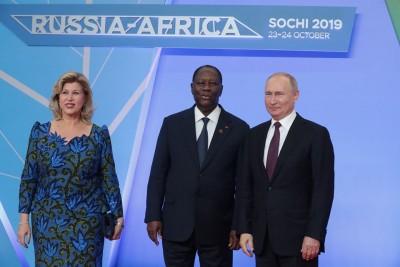 Côte d'Ivoire : Pour la réélection d'Alassane Ouattara, Vladimir Poutine lui adresse ses félicitations