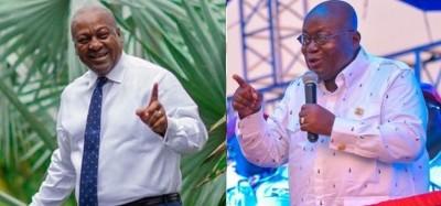 Ghana :  Présidentielle 2020, Akufo-Addo et Mahama, chacun dans le fief de son advers...