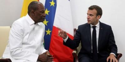Guinée : Après avoir critiqué son 3ème mandat, Macron adresse «ses vœux de succès» à Alpha Condé
