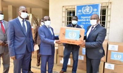 Côte d'Ivoire : Lutte contre la COVID-19, plus 300 millions de FCFA de matériels et d...