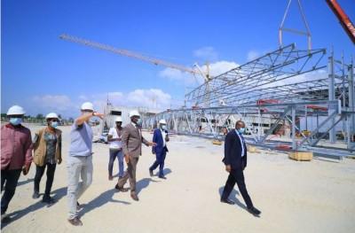 Côte d'Ivoire : Les travaux du parc des expositions d'Abidjan avancent à grands pas