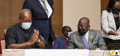 Ghana :  Présidentielle 2020, pacte de paix entre Akufo-Addo et Mahama pour le respect du verdict des urnes