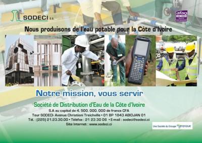 Côte d'Ivoire : Travaux de maintenance Cocody-Danga, communiqué de la SODECI