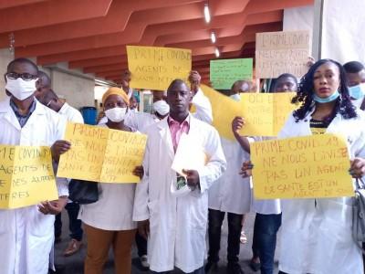Côte d'Ivoire : Réclamant le paiement de leur prime Covid-19, des agents de santé issus des autres ministères observent un sit-in au Plateau