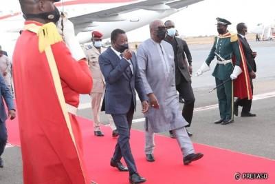 Burkina Faso : Brève visite de travail du président togolais Faure Gnassingbe