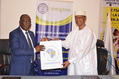 Côte d'Ivoire : Signature d'un accord cadre de partenariat entre Versus Bank et le fonds de solidarité africain