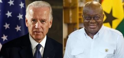 Ghana-USA :  Lettre de Biden à Akufo-Addo