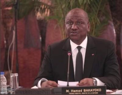 Côte d'Ivoire : Hamed Bakayoko suggère  une réorganisation du travail gouvernemental et propose le conseil de Gouvernement chaque quinzaine