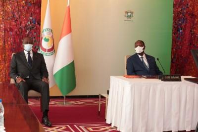 Côte d'Ivoire : Ouattara prend part, par visioconférence, au 58e Sommet ordinaire  de...
