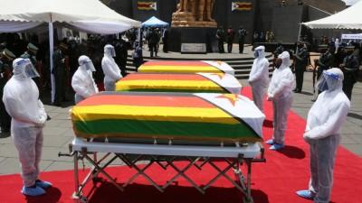 Zimbabwe : Inhumation à Harare de trois hauts responsables soit disant emportés par la Covid-19