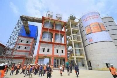 Côte d'Ivoire : Zone industrielle PK24 d'Akoupé-Zeudji, inauguration d'une nouvelle cimenterie
