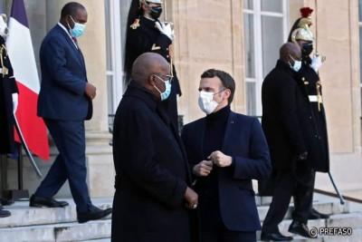Burkina Faso-France : Lutte antiterroriste, le président Kaboré s'entretient avec Emmanuel Macron