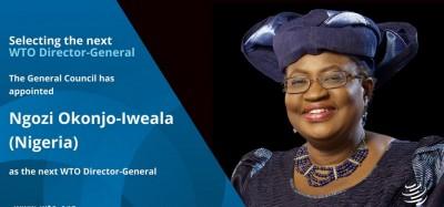 Afrique  :  Okonjo-Iweala enfin désignée Directrice générale de l'OMC, ses premiers mots