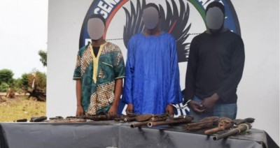 Côte d'Ivoire : Recherchés depuis un an, des coupeurs de route interpellés avec des armes