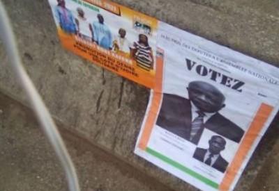 Côte d'Ivoire : Destruction  des affiches des candidats, des peines d'emprisonnement...