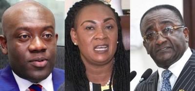 Ghana :  Gouvernement, nomination de trois ministres bloquée au parlement