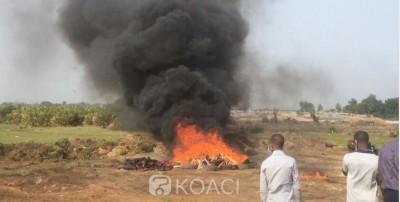 Côte d'Ivoire : La tonne de cocaïne saisie à Cocody incinérée en présence du Procureur de la république et du général Apalo