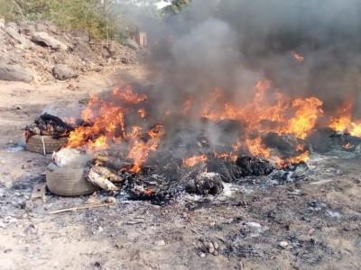 Burkina Faso : plus 700 kg de poulet de contrebande saisis et incinérés par la police
